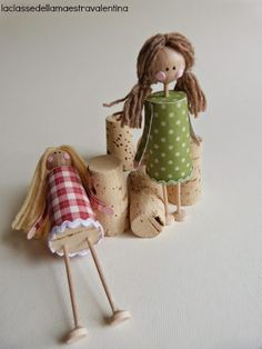 Best 7 Doll brooch by AlexandraStanShop on Etsy – SkillOfKing. Wine Cork Art, Wine Cork Crafts, Wine Cork Projects, Craft Projects, Wine Cork Ornaments, Clothespin Dolls, Fairy Dolls, Cute Crafts, Doll Crafts