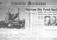 1964 Water Tower accident during Hurricane Hilda in Erath Louisiana Abbeville Meridional.jpg (1274×891)