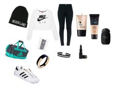 """""""Outfit"""" by brendonurielife on Polyvore featuring NIKE, adidas, Disney, Marni, Miss Selfridge, Charlotte Russe, Maybelline and Barry M"""