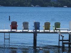 Lake Geneva, Wisconsin - I would be planted in one of these chairs!