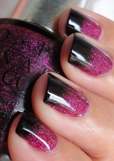 black and purple/pink - Click image to find more Hair & Beauty Pinterest pins