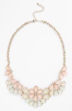 Teardrop Floral Statement Necklace