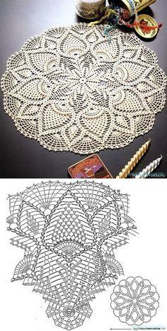 Красивое вязание | Вяжем салфетку крючком.