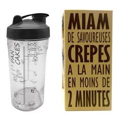 Glass Mixer With Metal No-Lump Mixing Ball, Printed With Recipes & Measurements To Make Up To 10 Pancakes. Simply Shake, Pour & Fry For Perfect Pancakes! Crepes, Recipe Measurements, Easy Homemade Pancakes, Pancake Maker, Shaker, Cuisine Diverse, Kitchenware, Tableware, Practical Gifts
