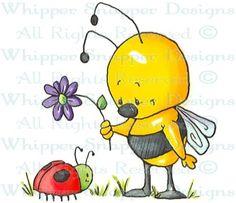 Beebug - Bugs - Rubber Stamps - Shop