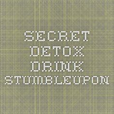 Secret Detox Drink - StumbleUpon