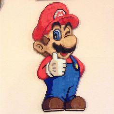 Mario perler beads by perler_purrs Hama Beads Animals, Beaded Animals, Pearler Bead Patterns, Perler Patterns, Fuse Beads, Perler Beads, Stitch Games, Perler Bead Mario, Iron Beads