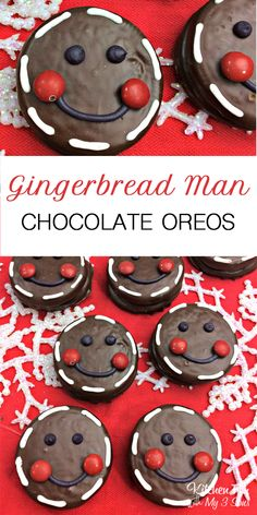 Gingerbread Man Oreos - such a fun Christmas treat recipe.