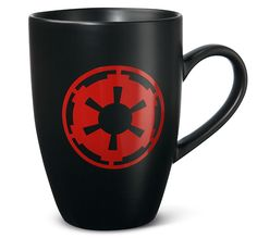 You can't crush the Rebel Alliance on decaf. -ThinkGeek :: Star Wars Imperial Logo Mug