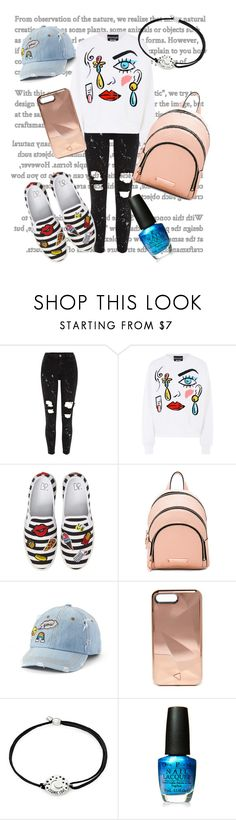 """Untitled #35"" by fionaandroid ❤ liked on Polyvore featuring River Island, Boutique Moschino, BP., Kendall + Kylie, SO, Rebecca Minkoff, Alex and Ani and OPI"