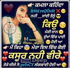 Me Quotes, Funny Quotes, Punjabi Status, Punjabi Quotes, Funny Pictures, Funny Pics, Quotations, Thoughts, Feelings
