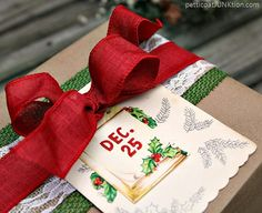Vintage Inspired Christmas Gift Wrap Ideas Welcome to the second day of the Gift Wrap Ideas Tour! I love wrapping gifts. How about you guys? It seem