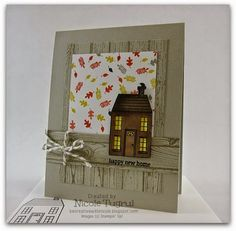 Be Creative with Nicole: Holiday Home for TSSC340 This fall card features Holiday Home and Motley Monsters Designer Series Paper. Perfect rustic card for a new home owner!