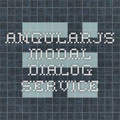AngularJS modal dialog service