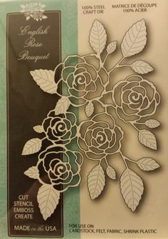 99139 Memory Box 100% Steel Craft Die English Rose Bouquet