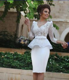 Long Sleeves Knee Length Homecoming Dresses,Sheath Lace Prom Dress,Dress For Homecoming, Shop plus-sized prom dresses for curvy figures and plus-size party dresses. Ball gowns for prom in plus sizes and short plus-sized prom dresses for African Fashion Dresses, African Dress, African Style, Mode Outfits, Dress Outfits, Peplum Dresses, Satin Dresses, Dress Skirt, Knee Length Cocktail Dress