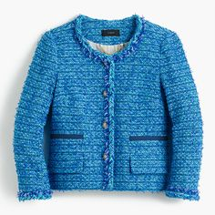 J. Crew essentials collection lady jacket in English tweed