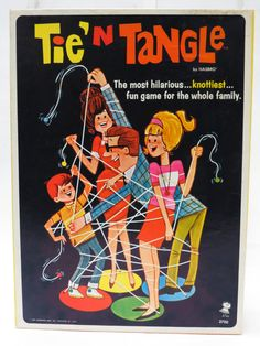 Tie' N Tangle Board Game by Hasbro 1967