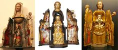 Vierge Ouvrante - Statues of the Virgin Mary that open to reveal a scene with the cross