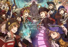 Hetalia - England, America, Hong Kong, Sealand, Canada with Kumajiro, and France / Norway, Denmark, Finland with Hanatamgo, Iceland with Mr Puffin, and Sweden / Russia : Eyebrow's Family VS Northern Europe
