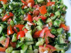 Shepherd's Salad with tangy sumac, delicious & refreshing