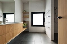 House Under Eaves - MRTN Architects Long Shadow, Architects, Bathing, New Homes, Spaces, Interior, House, Bath, Swim