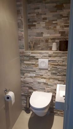 Space Saving Toilet Design for Small Bathroom - kleines badezimmer Space Saving Toilet, Small Toilet Room, Bathroom Small, Space Saving Bathroom, Bathroom No Window, Small Toilet Decor, Small Toilet Design, Relaxing Bathroom, Bathroom Mirrors