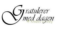 UM Stempel tekst - Gratulerer med dagen StorG
