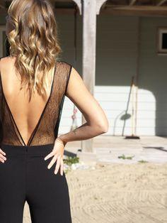 Combinaison dos dentelle Backless, Camisole Top, Bodysuit, Collection, Tank Tops, Instagram, Women, Fashion, Civil Wedding