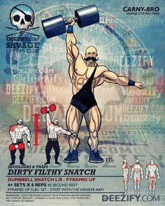 shoulder exercise: dumbbell snatch carnybro
