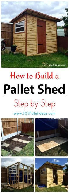 wooden pallet projects How to Build a Pallet Shed - Step by Step - Pallet Furniture Designs, Wooden Pallet Projects, Wooden Pallet Furniture, Pallet Crafts, Wooden Pallets, Pallet Wood, How To Build Pallet Furniture, Wood Crafts, Outdoor Pallet