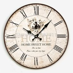 Fashion vintage silent clock wall ,fashion rustic large wall clock table,watch wall clock free shipping