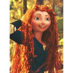 merida's hair ❤ liked on Polyvore featuring accessories, hair accessories and merida