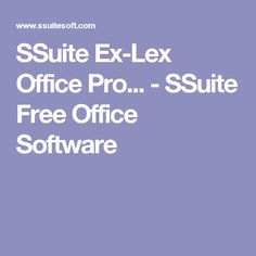 SSuite Ex-Lex Office Pro... - SSuite Free Office Software