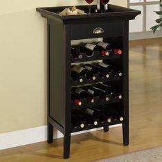 Powell Wine Cabinet - Black with Merlot Rub Through - 502-426 Wine Bottle Rack, Bottle Holders, Wine Rack Inspiration, Wine Rack Design, Powell Furniture, Wine Furniture, Furniture Stores, Custom Furniture, Furniture Ideas