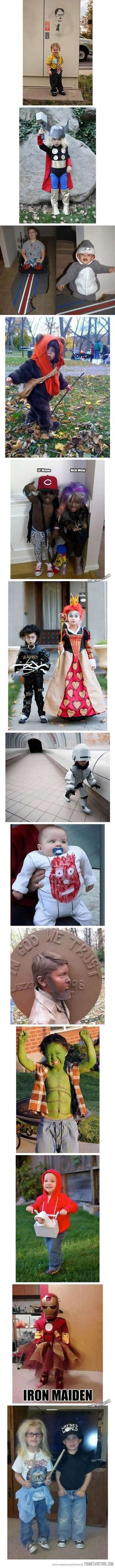 Tell me why I thought this was so funny.. And cute. If I ever have kids there gonna have sick costumes like this lol