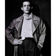 Tasper Turtle Neck, Patia Pleated Pants And Berit Belt With Horn Buckle From Damir Doma Men's AW15 Collection Featured In GQ Russia, February 2016. Photography Collier Schorr, Stylist Beat Bollinger. https://www.instagram.com/p/BBQF46EJ-72/?taken-by=damirdomaofficial