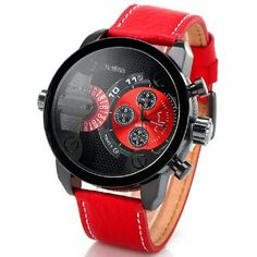 Hot homens de relógios de luxo marca militar relógio Oulm duplo movimento de quartzo relógio de pulso para dieseler dz relógio relógio Masculino em Casual Watches de Relógios no AliExpress.com | Alibaba Group