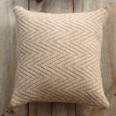 Chevron Felted Pillow ... one of several pillow patterns I'm trying to decide between so my mother-in-law can knit them for me!
