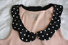 How To - Peter Pan Collar Tank Top - add a new collar to any neckline. I have a tank top I neeeeed a collar for.