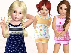 Little Miss Daisy outfit by Wimmie - Sims 3 Downloads CC Caboodle