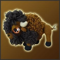 Too Cute!! I don't crochet so I'll have to find somebody who can do this for us!!  Amigurumi Pattern Crochet  American Bison