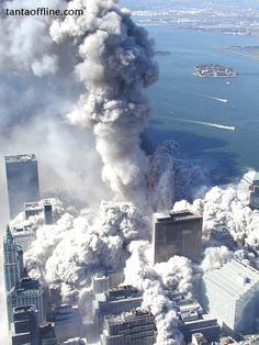 Pictures not seen much around on the Internet (911 Pyroclastic flow) as the South Tower Collapses - World Trade Center Twin Towers