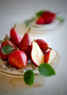 Enjoy the sweet taste of red Anjou pears.