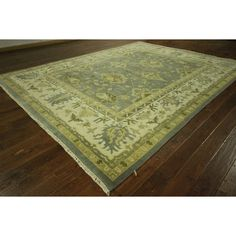 Manhattan Traditional Oriental Flora Oushak Hand-knotted H8868 Area Rug