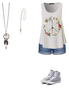 """Untitled #584"" by themadhattersnightmare on Polyvore featuring Topshop and Converse"