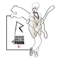 Rihanna new creative director of Puma - illustrated by Chiara Rigoni #fashionillustration #illustration #chiararigoni #riri #rihanna #puma