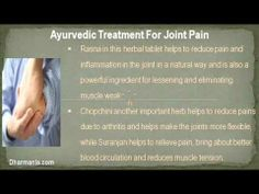 This video describe about all about natural ayurvedic treatment for joint pain, stiffness and inflammation. You can find more detail about Rumacure Capsules at http://www.dharmanis.com