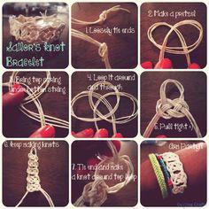 diy sailor knot bracelet | DIY Sailor's Knot Bracelet