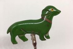 Your place to buy and sell all things handmade Dachshund, Dinosaur Stuffed Animal, Carving, Brooch, Metal, Green, Animals, Vintage, Shoulder